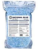 National Blue Ice Melt - 8lb Bag - Fast Acting Ice Melter - Pet, Plant and Concrete Friendly, Environmentally Safe - Free of Magnesium Chloride - Melts to -15°F