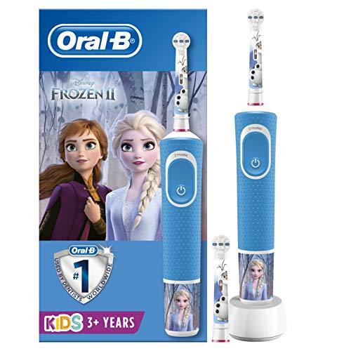 Oral-B Kids Brosse à Dents Électrique Rechargeable, 1 Manche Disney La Reine des Neiges (1 ou 2), 3 Ans et Plus