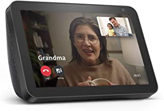 Echo Show 8 — HD smart display with Alexa – stay connected with video calling..