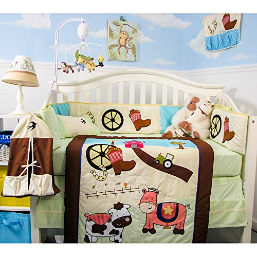 SoHo Baby Crib Bedding 9 Piece Set, Farmland Ranch