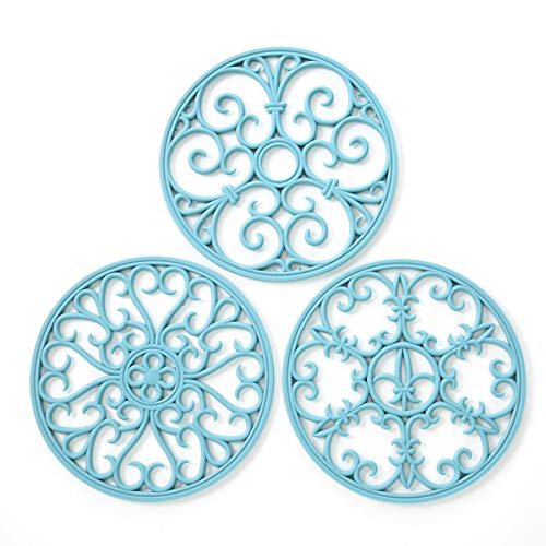 Silicone Trivet Mat - Non-Slip & Heat Resistant Kitchen Hot Pads for Countertops & Table - Kitchen Trivets for Hot...