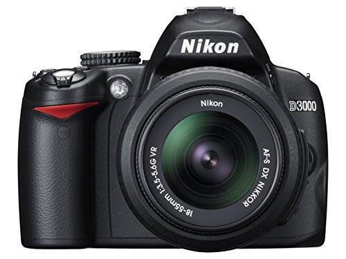 Nikon D3000 fotocamera Reflex con obiettivo 18-55 VR, colore nero (Ricondizionato Certificato)