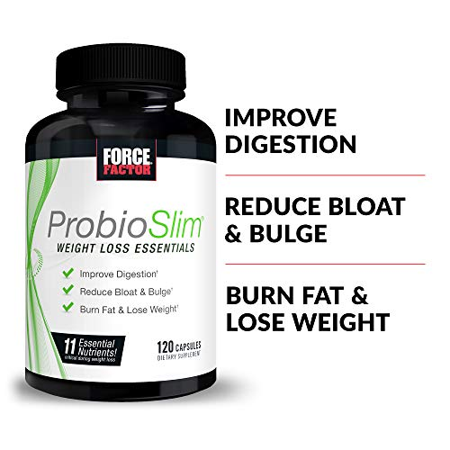 ProbioSlim Weight Loss Essentials Complete Daily Digestive Health and Weight Loss Probiotic Supplement for Women and Men with Electrolytes and Green Tea Extract, Force Factor, 120 Capsules 7