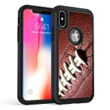 iPhone XR Case,Rossy Heavy Duty Hybrid TPU Plastic Dual Layer Armor Defender Protection Case Cover for Apple iPhone XR 6.1' (2018),Ball Sports Football