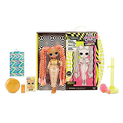 Image 6 - L.O.L. Surprise! Poupées mannequins collectionnables – Avec 15 surprises, vêtements et accessoires - Dazzle – Série O.M.G. Lights
