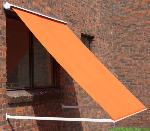 2m Fallarmmarkise, Halbkassette (Orange)