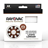 Rayovac Proline Advanced Mercury-Free Hearing Aid Batteries44; Box - 4844; Size 312