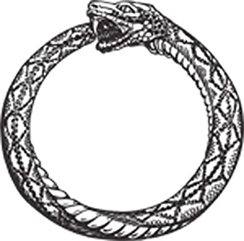 """Amazon.com: Retro Vintage Ouroboros Snake Eating Tail Ring Cartoon Icon  Vinyl Decal Sticker (8"""" Tall): Arts, Crafts & Sewing"""