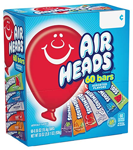 Airheads Candy Bars, Variety Bulk Box, Chewy Full Size Fruit...