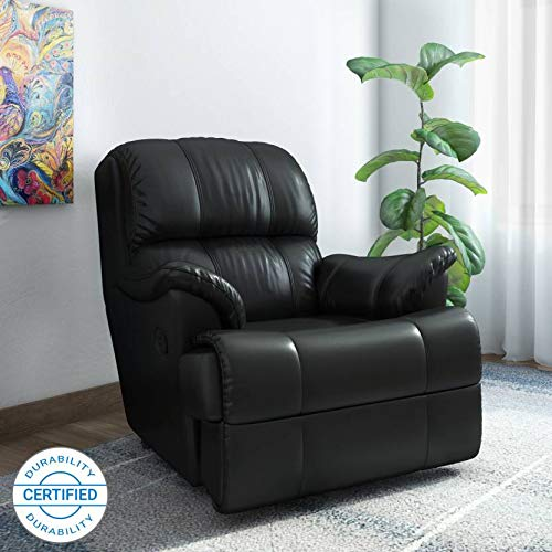 Westido 1 Seater Manual Recliner in Black Leatherette