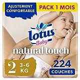 Lotus Baby Natural Touch- Couches Taille 2 (3-6 kg/Nouveau-Né) - lot de...