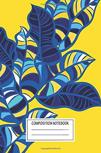 Notebook: Pop Foliage On Yellow Wide Ruled , Journal for Writing, Size 6' x 9', 110 Pages