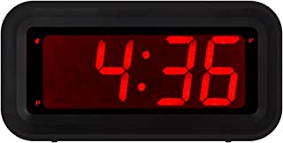 KWANWA LED Digital Alarm Clock Battery Operated Only Small for Bedroom/Wall/Travel with..