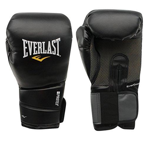 Everlast Protex 2 Entrenar Guantes Box Mma Boxeo Boxeo Deporte Ejercicios Negro 16oz