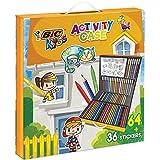 BIC Kids Mallette de Coloriage - 24 Crayons de Couleurs/24 Feutres/16...