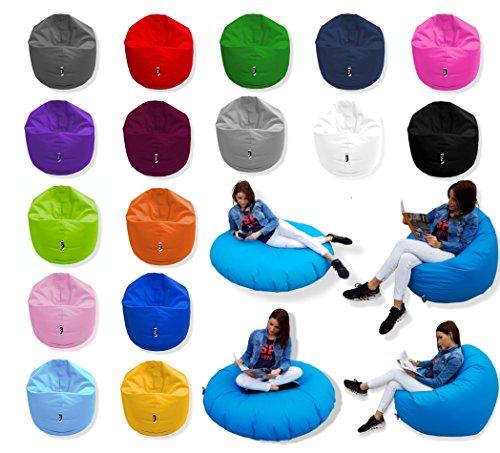 Patchhome 2 in 1 Funktion Sitzsack Sitzkissen Bean Bag - Königsblau - 100cm Durchmesser in 25 Farben und 3 versch. Größen - fertig befüllt