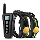 Bousnic Dog Training Collar 2 Dogs Upgraded 1000ft Remote Rechargeable Waterproof Electric Shock Collar with Beep Vibration Shock for Small Medium Large Dogs (15lbs - 120lbs)