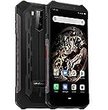 Ulefone Armor X5 4G Télephone Portable Incassable Debloqué, MTK6763 Octa-Core 3Go de RAM 32Go de ROM, IP68 Smartphone Résistant Etanche Antichoc Android 9.0, Dual SIM, Batterie 5000 mAh, NFC Noir