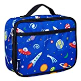 Wildkin Insulated Lunch Box for Boys and Girls, Perfect Size for Packing Hot or Cold Snacks for School and Travel, Mom's Choice Award Winner, BPA-free, Olive Kids (Out of this World)