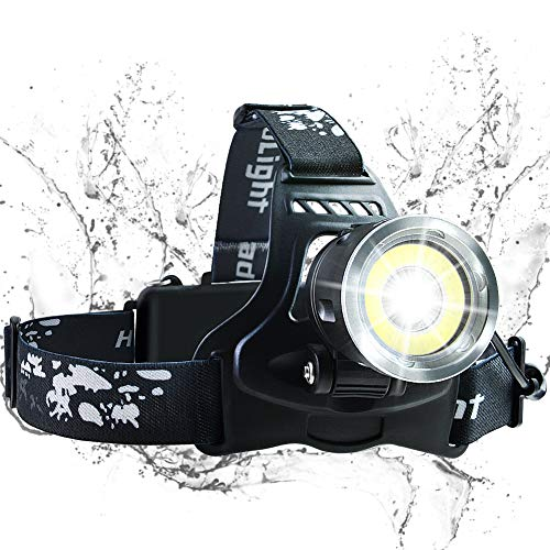 Rechargeable Headlamp, LED Headlamp Flashlight, USB Rechargeable Head Lamp, IPX4 Waterproof Headlight with 4 Modes and Adjustable Headband, Used for Night Running, Camping, Hiking, Emergency
