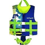 IvyH Gilet de Bain Enfant, Gilet de Natation Néoprène Gilet de Flottaison Veste de Natation été Sports Nautiques Assistance à la Natation pour Filles Garçons(Bleu S)