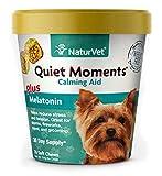 NaturVet – Quiet Moments Calming Aid for Dogs - Plus Melatonin –...