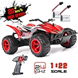 RC Car 1:22 Scale Radio Control High Speed Racing Car Monster Truck Off Road Dune Buggy Wireless Receiver Remote Control Hobby Toys for Kids & Adults
