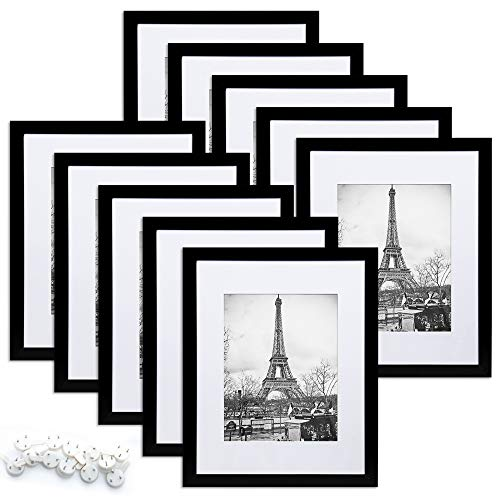 upsimples 8x10 Picture Frame Set of 10,Display Pictures 5x7 with...