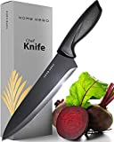 Chef Knife - Kitchen Knife - 8 Inches Chef's Knife - Sharp Knife Made Out Of Stainless Steel with Ergonomic Handle Protective Finger Guard - Chef Knives Cooking Knife by Home Hero