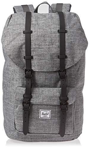 Herschel Little America Laptop Backpack, Raven Crosshatch/Black, Classic 25.0L