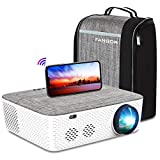 WiFi Projector Native 1080P Projector, FANGOR 701 Video Projector Bluetooth/Full Sealed...