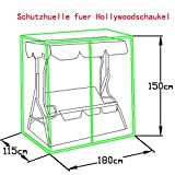 Loywe Hollywoodschaukel Gartenschaukel Schaukelbank 3-Sitzer mit Dach Stahlgestell,Grün 170x115x156cm LW12 - 6