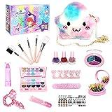 haohaiyo Juego de maquillaje infantil para niñas, lavable, con espejo, juego de maquillaje para niños, juego de belleza para niños, Halloween, Navidad, cumpleaños