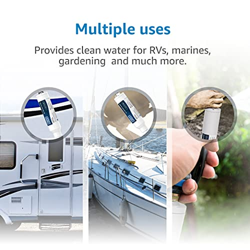 Product Image 6: AQUACREST RV Inline Water Filter, NSF Certified, Reduces Chlorine, Bad Taste, Odor for RV and Marines, Drinking & Washing Filter, Pack of 4