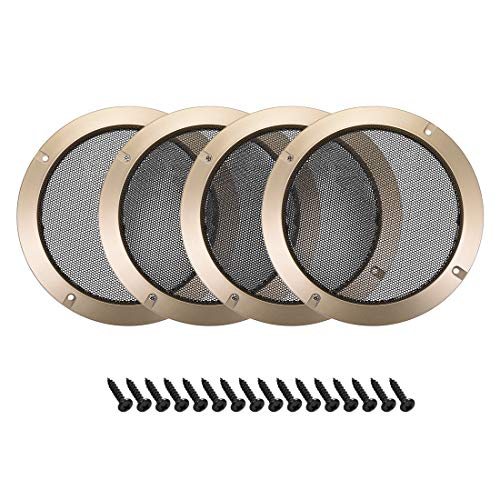uxcell 4pcs 6.5' Speaker Grill Mesh Decorative Circle Subwoofer Guard Protector Cover Audio Accessories