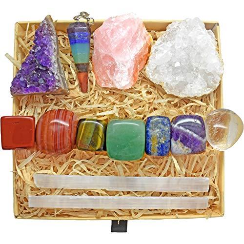 Zenluma Healing Crystals Set with 13 pcs. Healing Stones,...