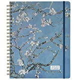 2020 Planner - 2020 Weekly & Monthly Planner Jan - Dec with Flexible Hardcover, 9.2' x 11.3', Strong Twin- Wire Binding, 12 Monthly Tabs, Two- Side Inner Pocket, Elastic Closure