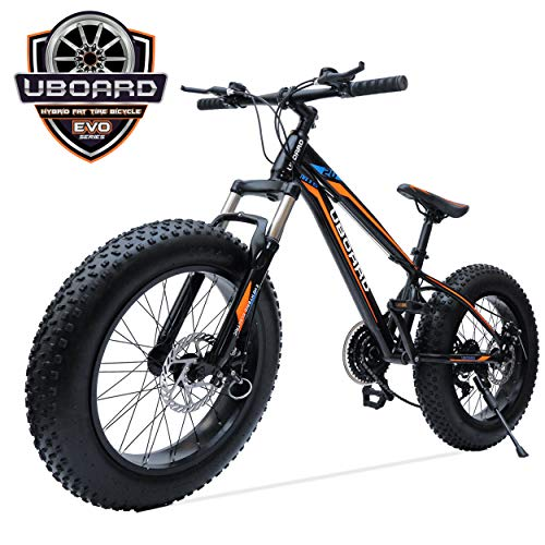 UBOARD 20inch Fat TIRE Bike 21 Speed Authentic Shimano Gear Set