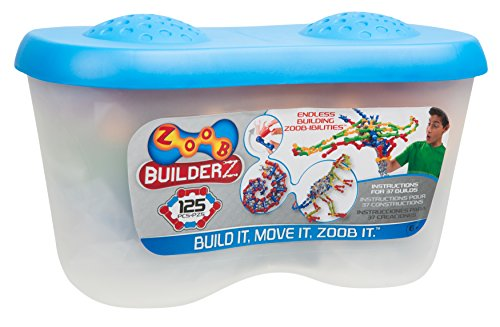 ALEX Toys ZOOB 0Z11125 ZOOB 125 Moving Mind-Building Modeling System, Assorted Colors, 125-Pieces