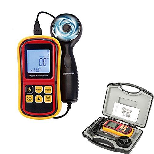 KOUPA Anemometro palmare Digitale - Sensore di velocit del Vento - con registratore di Dati e...