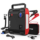 Portable Jump Starter with Air Compressor, UTRAI Jstar5 150 PSI 2000A 24000mAh(8L Gas 7.5L Diesel Engine) 12V Battery Jump Pack with Emergency Light LCD Screen USB QC3.0 for Cars, Trucks, SUV