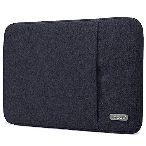Lacdo 13.3 inch Laptop Sleeve Case for Old 13 inch MacBook Air 2010-2017/13-inch MacBook Pro 2012-2015/13.5 inch Surface Book 3 2 / Asus Zenbook, HP Dell Acer Lenovo Chromebook Computer Bag, Black
