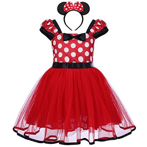 Bebé Niña Vestido de Fiesta Princesa Disfraces Tutú Ballet Lunares Fantasía Vestid Carnaval Bautizo Cumpleaños Baile para Infantiles Recién Nacido Disfraces de Princesa con Diadema 4 Años