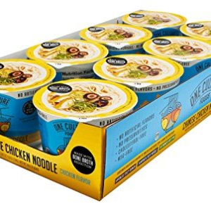 One Culture Foods Bone Broth Instant Cup Noodles, Chinese Chicken Noodle - Natural - Non-GMO (Pack of 8) 48