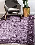 Unique Loom La Jolla Collection Tone Traditional Area Rug, 3 Feet 3 Inch x 5 Feet 3 Inch, Violet/Dark Purple