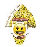 mini uovo di Pasqua EMOJI emoticon SMILE di cioccolato al LATTE finissimo - 50 grammi