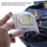 100 Pack - 6 Inch Premium Clear Plastic Luggage Tag Holder/Worm Loops for Bag Tags, by Specialist ID