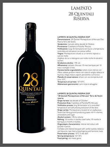 Ognibene Regalo Speciale - Vino rosso Montepulciano d'Abruzzo d.o.c. RISERVA 2013 - Cantine'LAMPATO' Colline Pescaresi-Abruzzo-Italy