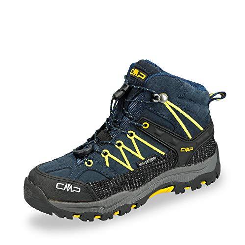 CMP Kids Rigel Mid Shoe Wp Trekking- & Wanderstiefel, Blau (B.Blue-Zafferano...