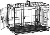 AmazonBasics Cage pliante en métal avec 2 portes pour chien - 56...